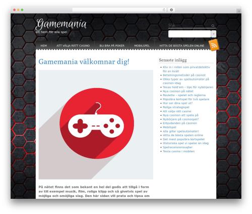 WP theme Snowblind - gamemania.se