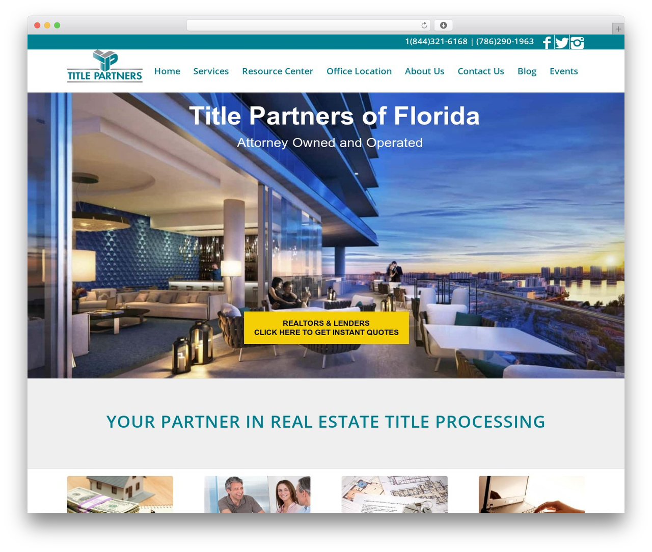 Best WordPress template Enfold - titlepartnersfl.com