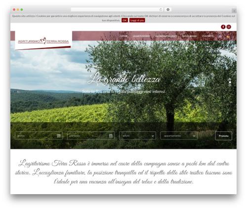 Best WordPress template Mykonos Resort - terrarossaagriturismosiena.com/it/home