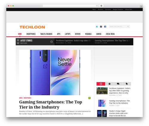 Best WordPress template Newsroom - techloon.com