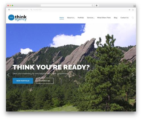 Best WordPress theme Qaro - thethinkagency.com