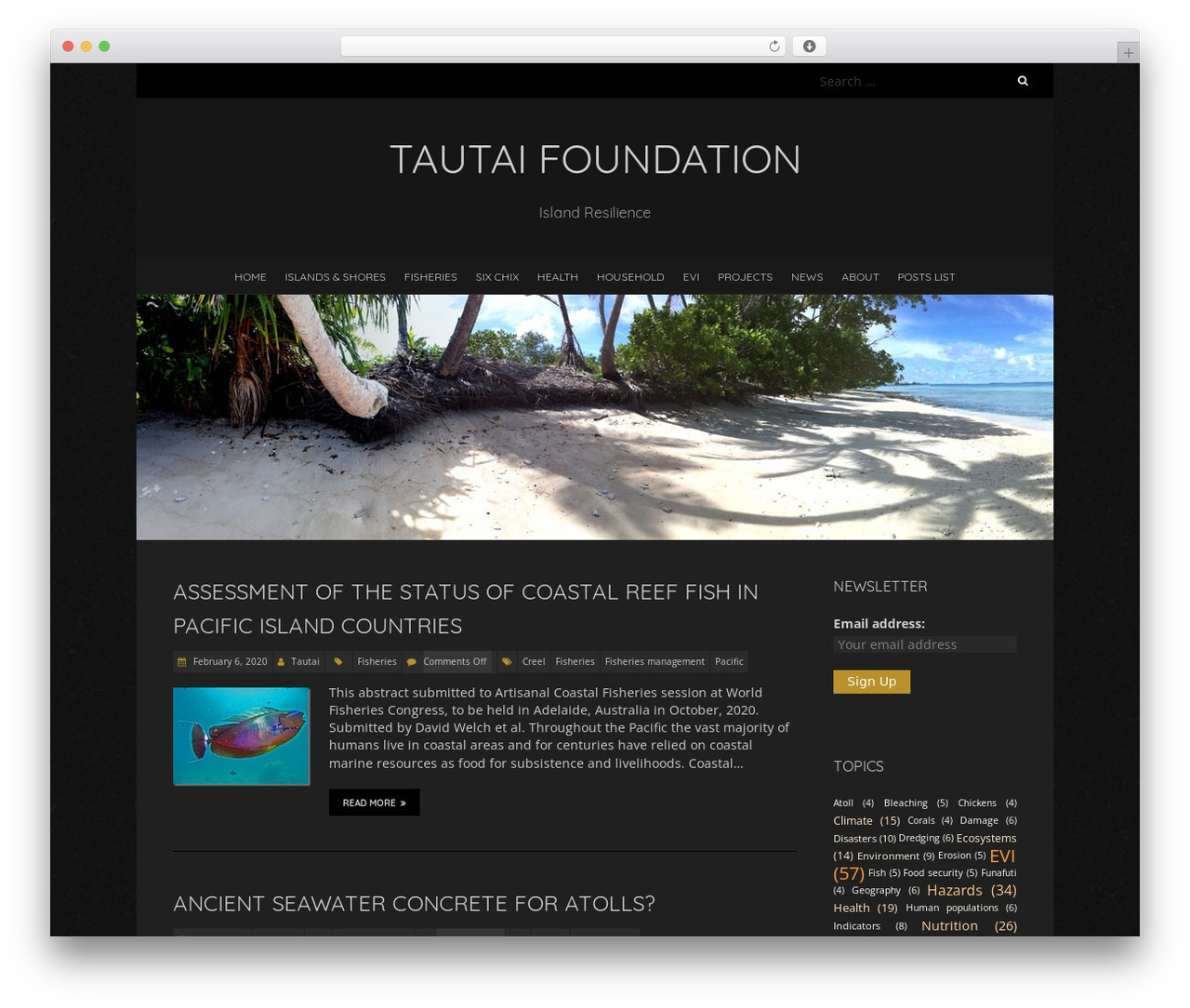 Blackoot Lite free WordPress theme - tautai.com