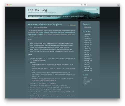 Blue Mist WordPress blog theme - tavblog.com