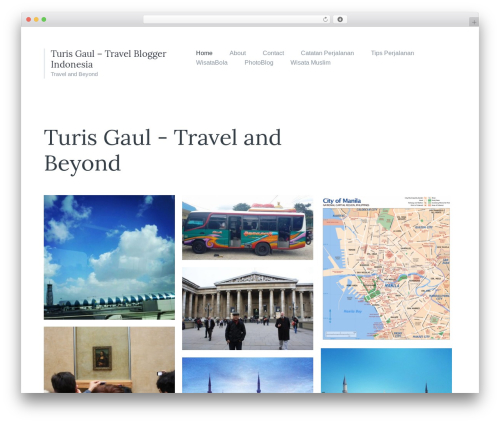 Candid WordPress blog theme - turisgaul.com