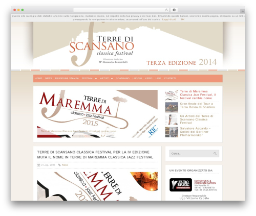CleanMag WordPress page template - terrediscansanoclassicafestival.it
