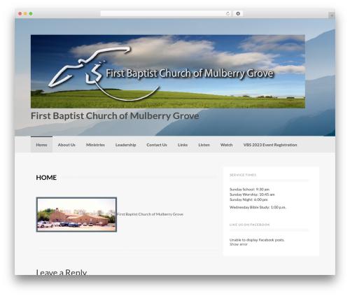 Coller free WP theme - fbcmulberrygrove.com