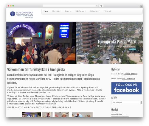 Customizr template WordPress free - turistkyrkan.info