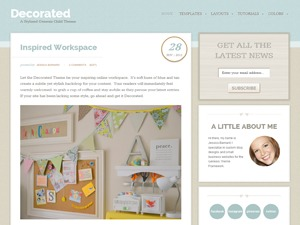 Decorated Child Theme WordPress template