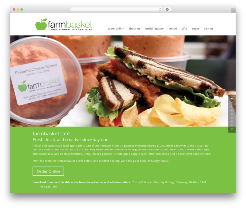Divi landscaping WordPress theme - thefarmbasket.com