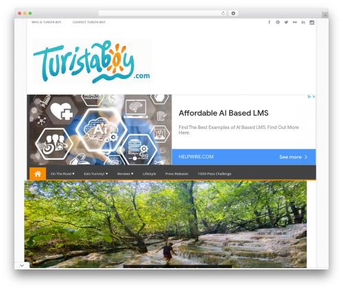 Effect free WP theme - turistaboy.com
