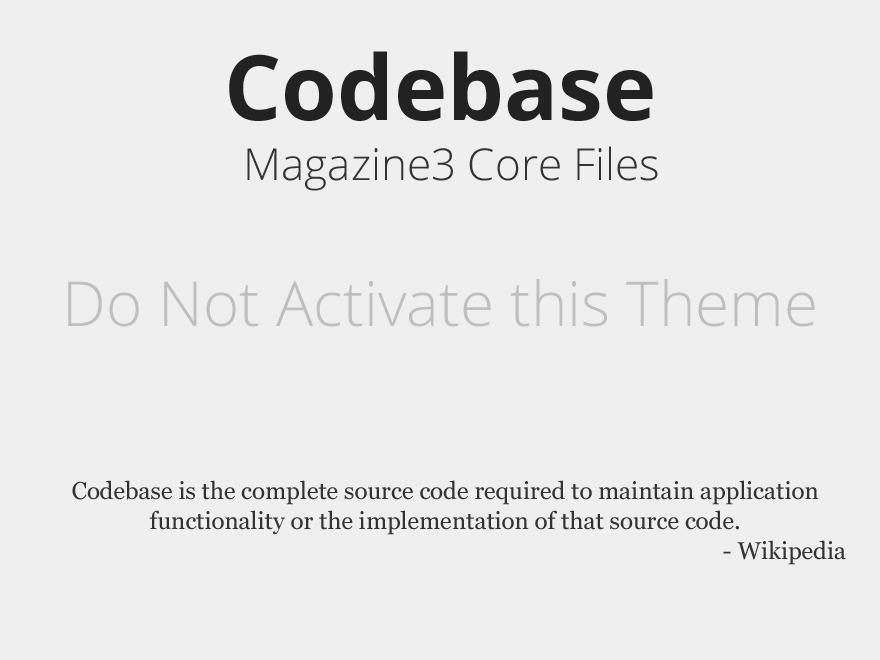 EntertainmentNews Codebase WordPress magazine theme