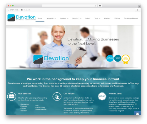 Envision theme WordPress - taurangaaccountants.co.nz