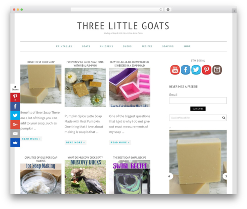 Foodie Pro Theme food WordPress theme - threelittlegoats.com