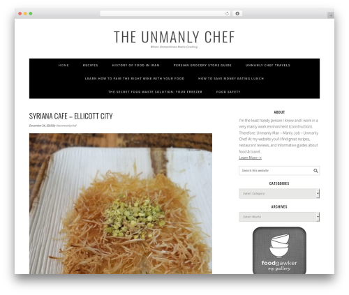 Free WordPress Round Social Media Buttons plugin - theunmanlychef.com