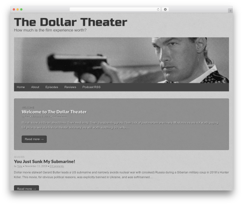 Gridiculous free website theme - thedollartheater.com