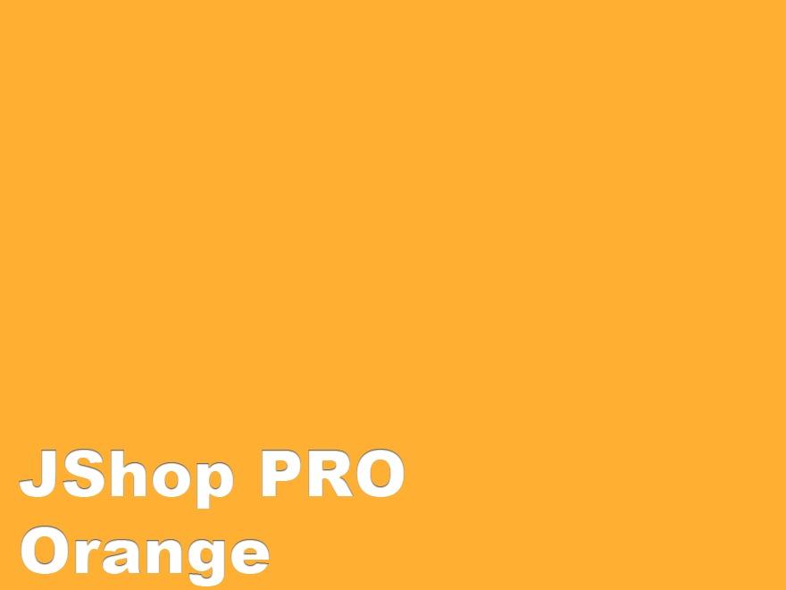 JShop PRO - Orange WordPress shopping theme