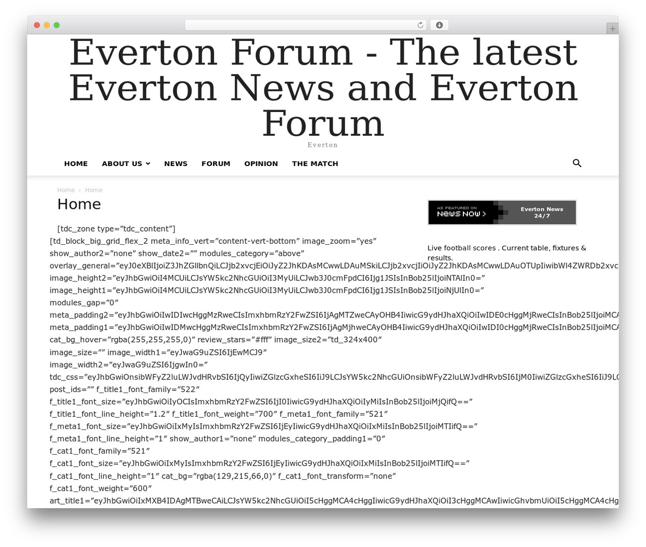 Newspaper WordPress magazine theme - theevertonforum.co.uk