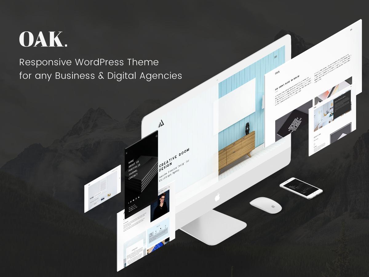 oak WordPress website template