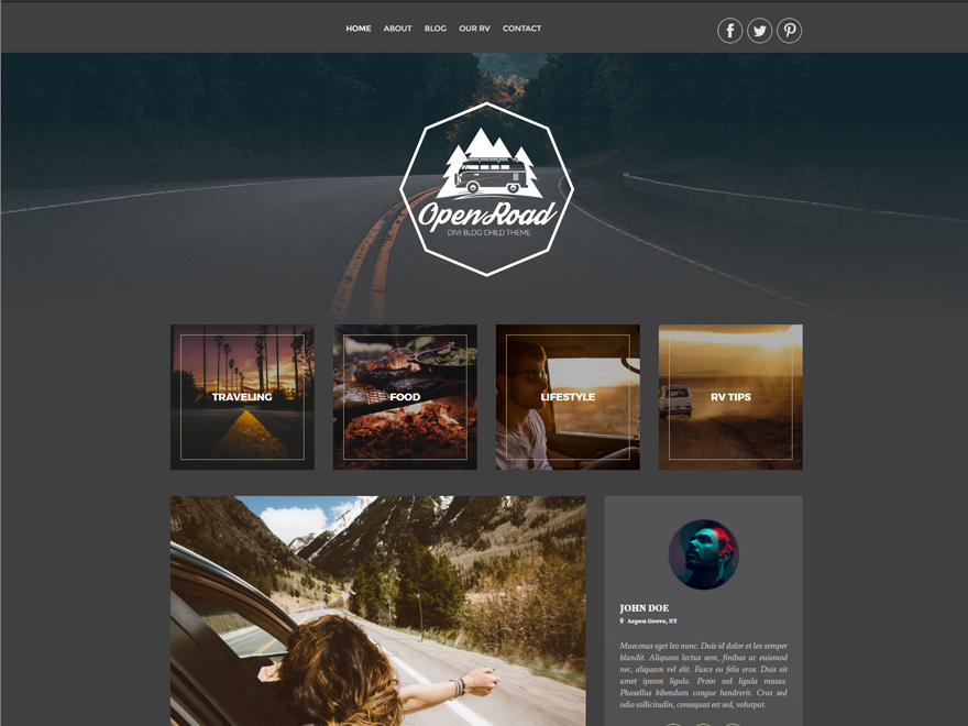 Open Road Child Theme WordPress template