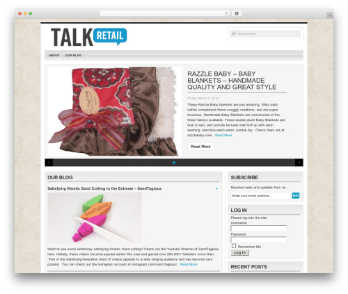 Organic-Magazine WordPress news theme - talkretail.com