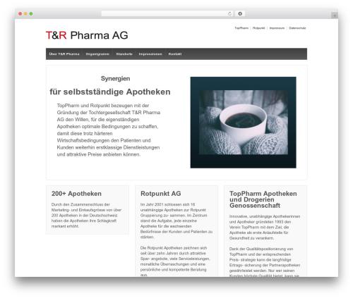 Responsive WordPress template free - trpharma.ch
