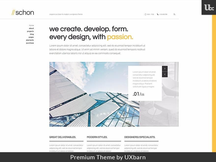Schon WordPress portfolio theme