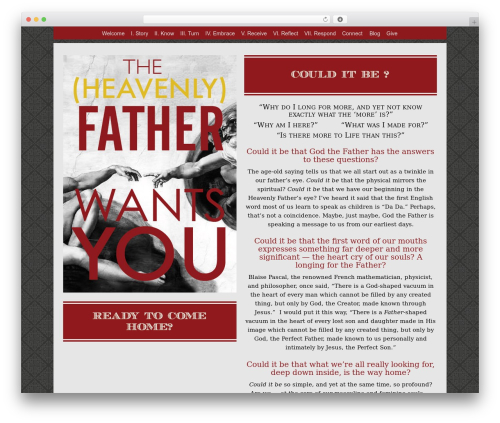 Free WordPress Tippy plugin - thefatherwantsyou.com