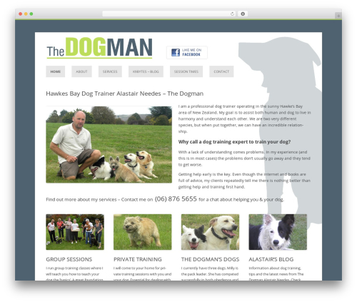 Template WordPress Thedogman - thedogman.co.nz