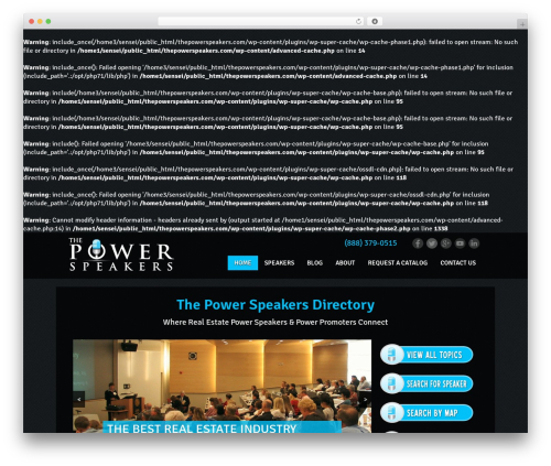 Theme theme WordPress - thepowerspeakers.com
