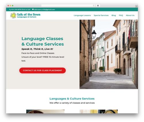 Theme WordPress Divi - talkofthetownlanguages.com