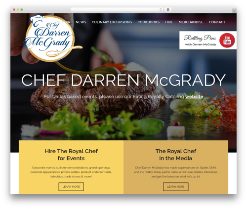 WordPress template Total - theroyalchef.com