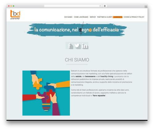 WordPress website template Biznex - tbdcom.it