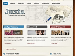 WordPress website template Juxta