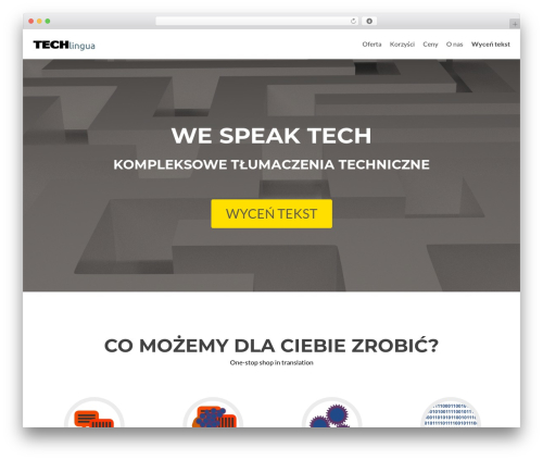 Zerif Lite best free WordPress theme - techlingua.pl