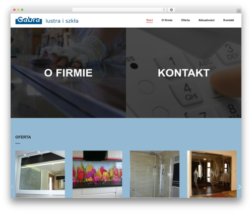 Backer WordPress website template - gabra.pl