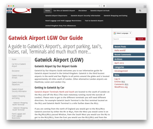 Best WordPress theme SmartAdapt - gatwick-airport-our-guide.com