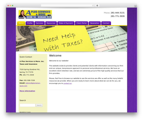 Customized WordPress template for business - gloriamarquez.com
