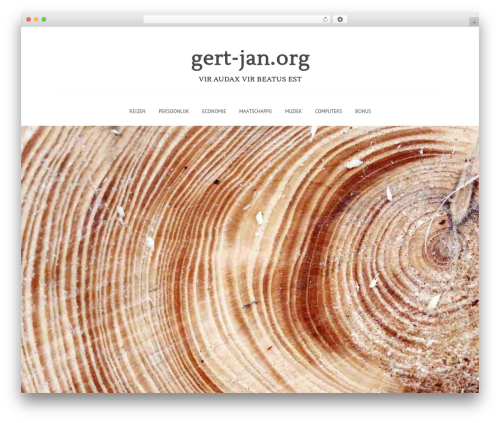 Gravit best WordPress template - gert-jan.org