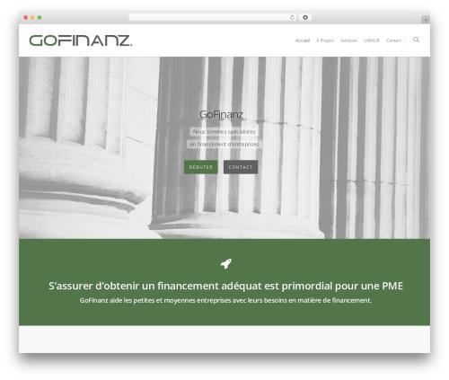 Salient WordPress template - gofinanz.com
