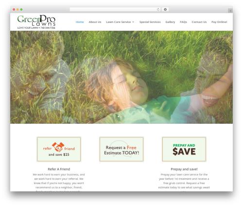 WordPress theme Divi - greenprolawns.com