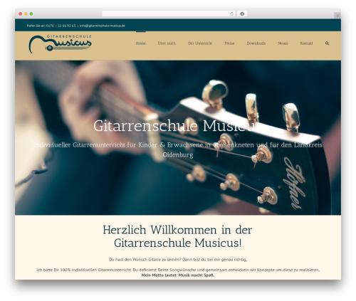 Avada best WordPress template - gitarrenschule-musicus.de