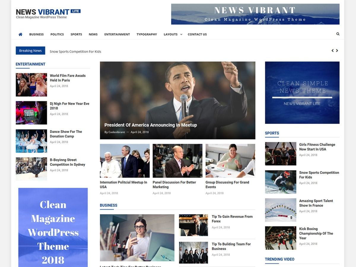 News Vibrant Lite best WordPress magazine theme