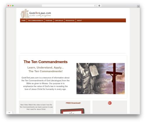Responsive WordPress theme - godstenlaws.com