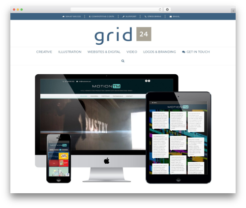 Total business WordPress theme - grid24.co.uk
