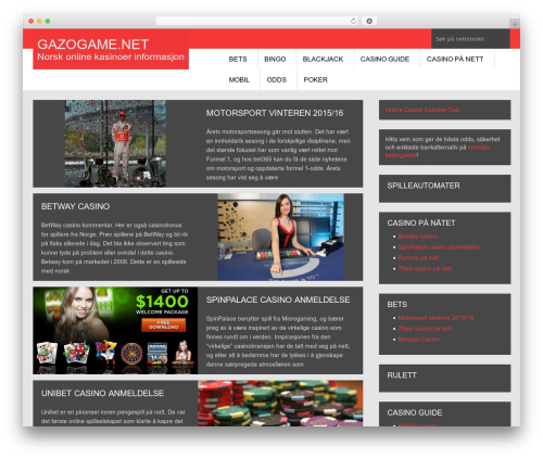 Urban Lite best free WordPress theme - gazogame.net