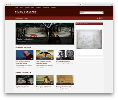WordPress template Arras - generalic.com