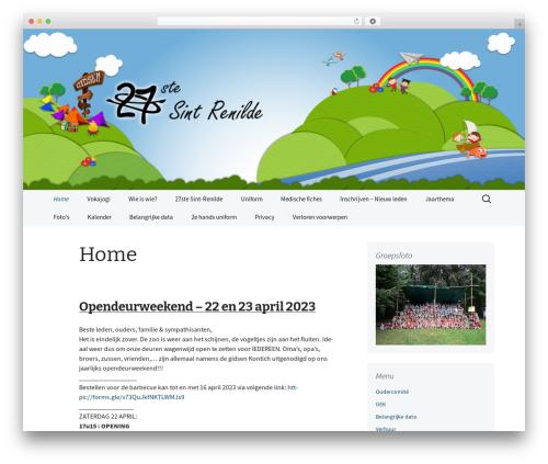2013 Blue WordPress theme - gidsenkontich.be