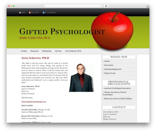AppleX WordPress theme - gifted-psychologist.com