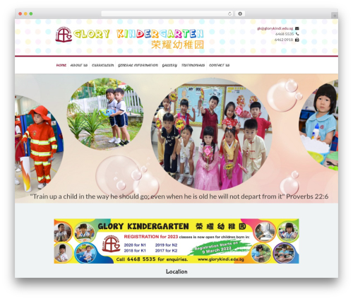 Kidslife WordPress template - glorykindi.edu.sg
