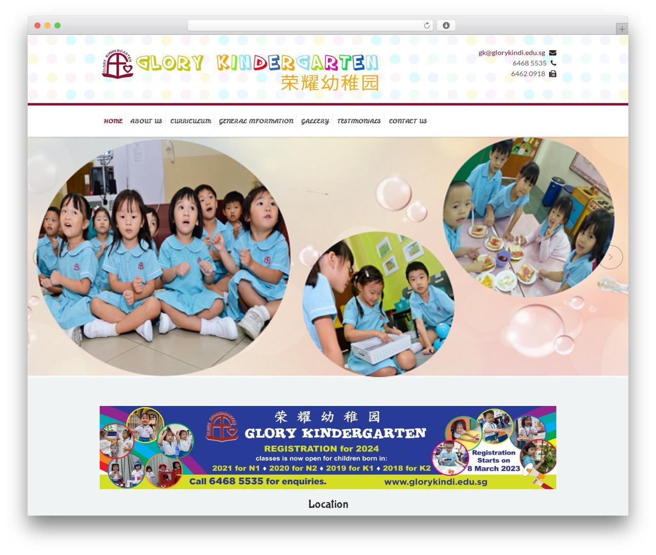 Kidslife WordPress template - glorykindi.edu.sg